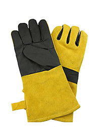 Leather Welding Gloves Welder Microwave Baking