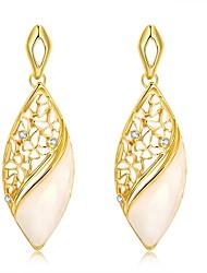 2016 New Noble Luxury 18k Gold Plated Czech Drill Drop Earring For Women