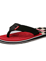 Men's Slippers & Flip-Flops Spring / Summer / Fall Flip Flops Fabric  Flat Heel Yellow / Red / Orange Upstream shoes