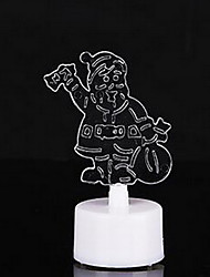 10pcs/Pack Colorful Santa Claus LED Candles Night Light