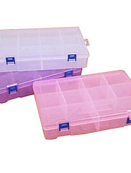 Large Transparent Double Buckle 10 Grids Storage Box (Random Colors)