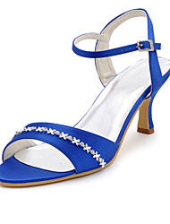 damesschoenen zijde naaldhak hakken / peep toe hakken bruiloft / feest&avond / jurk blauw