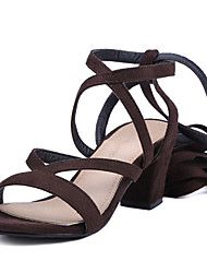 Women's Shoes Chunky Heel Open Toe Lace-up Sandal More Color Available