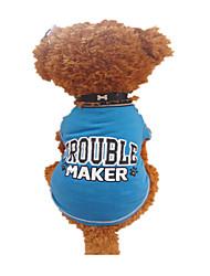pejsky Trička Modrá Oblečení pro psy Léto dopis a číslo