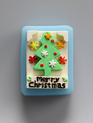 Merry Christmas Chocolate Silicone Molds,Cake Molds,Soap Molds,Decoration Tools Bakeware