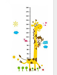 Art Decals Warm Child Room Kids Height Measure Monkey Giraffe Wall Poster Wall Stickers
