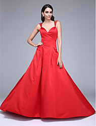 TS Couture Prom Formal Evening Dress - See Through A-line Straps Court Train Satin with Beading