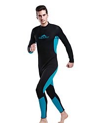 SBART Homme Combinaisons Tenue de plongée Compression Costumes humides 1.5 à 1.9 mm Bleu S / M / L / XL / XXL Plongée
