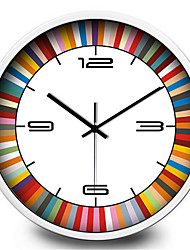 Personality Creative Metal Silent Color Quartz Wall Clock
