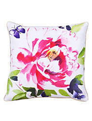 Polyester Pillow With Insert,Floral Casual 18x18 inch