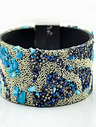 Beautiful Rainbow Colorful Fabric Weave Magnet Buckle Friendship Wrap Layered Bracelet Jewelry