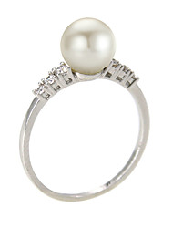 Ring Fashion / Birthstones Party / Daily / Casual Jewelry Alloy / Imitation Pearl / Zircon Women Band Rings 1pc,6 / 7 / 8 / 9 Silver