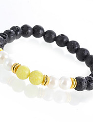 Lava Stone Onyx 2016 New Buddha Bracelets For Women Gold Black Yoga bracelet Men