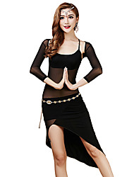 Belly Dance Dresses Women's Training Tulle / Modal Draped 3 Pieces Long Sleeve Natural Sleeves / Dress / Shorts 110cm