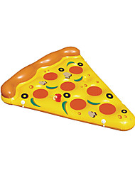 Water Toy Giant Yellow Inflatable Pizza Floating Bed 180 * 150 CM/raft Air Mattress
