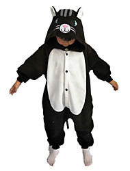 Kigurumi Déguisements d'animaux Halloween / Noël / Carnaval / Le Jour des enfants / Nouvel an Blanc & noir Couleur Pleine Polaire