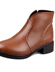 Women's Boots Winter Fashion Boots PU Casual Low Heel Others Black / Brown Others
