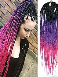 Lila Senegal / Gehäkelt Dread Locks Haarverlängerungen 20 Kanekalon 2 Strand 100g Gramm Haar Borten