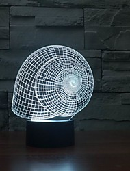 Hot Selling 3D Effect 3D Effect Snail Shell Shape Table With Lamp Color-Changing Night Light