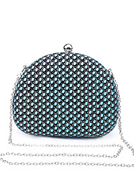 L.WEST Women's The Elegant Hollow Out Dot Flash Powder Evening Bag