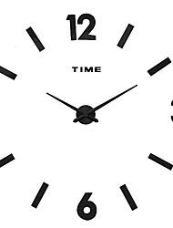 MQ - 028Large Size Creative Diy Wall Clock Art Background Wall Clock Modern Personality Quiet Bell
