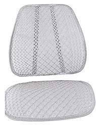 malha pano de assento de carro almofada de prata