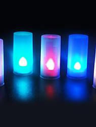 5 pièces de lumière de nuit capteur de voix bougie lumière led couleur variable