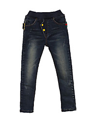 Boy's Cotton Spring/Fall Pocket Patchwork Casual Jeans