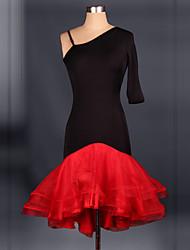Costumes de Cosplay Plus de costumes Fête / Célébration Déguisement Halloween Noir & rouge Mosaïque Robe Halloween / Noël / Carnaval