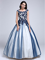 TS Couture® Prom Dress Ball Gown Scoop Floor-length Lace / Tulle with Appliques / Beading