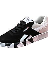 scarpe da uomo in pelle scamosciata scarpe da tennis casuali di modo casuale a piedi piatti altri tacco blu / rosso / grigio