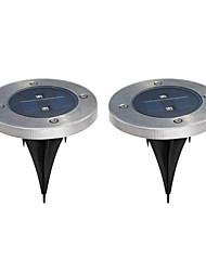 Pack of 2 Solar Ground Light for Garden Landscape Lighting, Pathway, Stairway