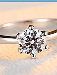 Band Rings Silver Sterling Silver Zircon Cubic Zirconia Simulated Diamond Fashion Classic Gold White Jewelry Wedding Daily Casual 1pc