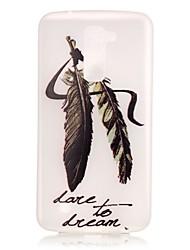 Pour Coque LG Phosphorescent Motif Coque Coque Arrière Coque Plume Flexible PUT pour LG LG K10 LG K8 LG K7