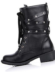 Women's Boots Fall Winter Fashion Boots PU Casual Low Heel Others Black