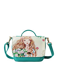 Flower Princess® Women Canvas Shoulder Bag Green-1504X001