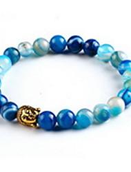 Crystal Natural Stone Strand Bracelet