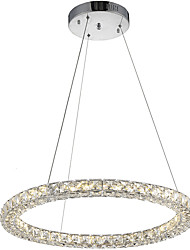 Round Ring LED Crystal Pendant Light Ceiling Chandeliers Lighting Lamp with 24W D50CM CE FCC ROHS