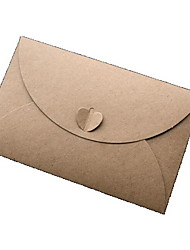 Large Kraft Paper Heart-shaped Envelope