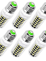 YouOKLight 6PCS High Luminous E27 E14 220V 64*SMD5733 LED Corn Bulb 7W Spotlight LED Lamp Candle Light