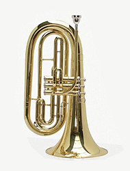 B Flat Three Key Baritone Euphonium Gold Paint