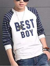 Tee-shirts Boy Imprimé Décontracté / Quotidien Coton Printemps / Automne Blanc / Gris