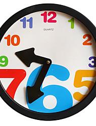 European Style Vintage Plastic Wall Clock