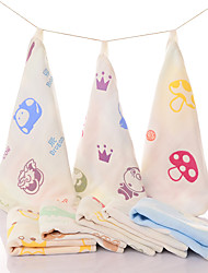 "Full Cotton Soft Baby Towel 10"" by 10"" Random Color"