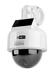 KingNEO KD201S Dummy Solar Powered Speed Dome Camera Simulated Outdoor Security Camera 1pc White