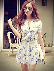 Rosa Doll® Damen Ständer Lange Ärmel Pullover & Cardigan Weiß-X15BOT002