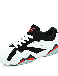 Men's Shoes Casual PU Fashion Sneakers White / Black and Red / Black and White