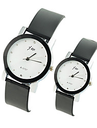 Couple's Casual Fashion PU Band Quartz Watch