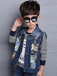 Boy's Casual/Daily Print Jeans / Vest,Rayon Spring / Fall Blue
