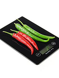 De pantalla táctil precisa balanza de cocina electrónica con un peso máximo de 5 kg 0.1g